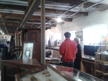 Richard Baines talks to Shirley Richards at Penryn Musuem